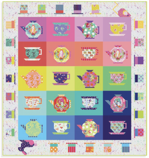 *PRE ORDER* Curiouser & Curiouser - +Kit - Mad Hatter Tea Party Quilt Kit - DUE TO ARRIVE JUNE/JULY