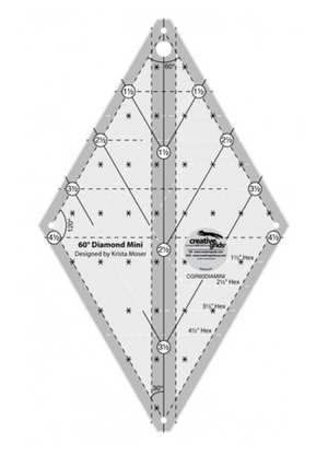 Creative Grids 60 Degree Diamond MINI Ruler CG R60DIAMINI