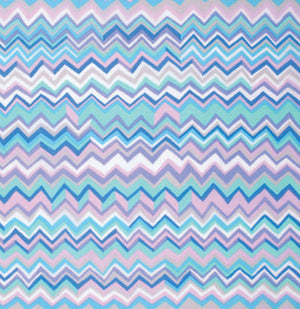 Kaffe Fassett Collective Zig Zag BLUE PWBM043.Priced per 25cm