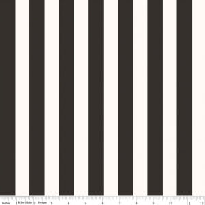 "Riley Blake Designs ""Yes, Please""   C6554—BLACK Stripes."