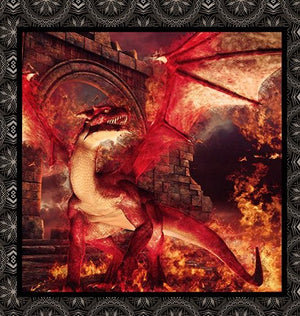 Dragons by Jason Yenter 2DRG-1, Small Dragons Panel Red