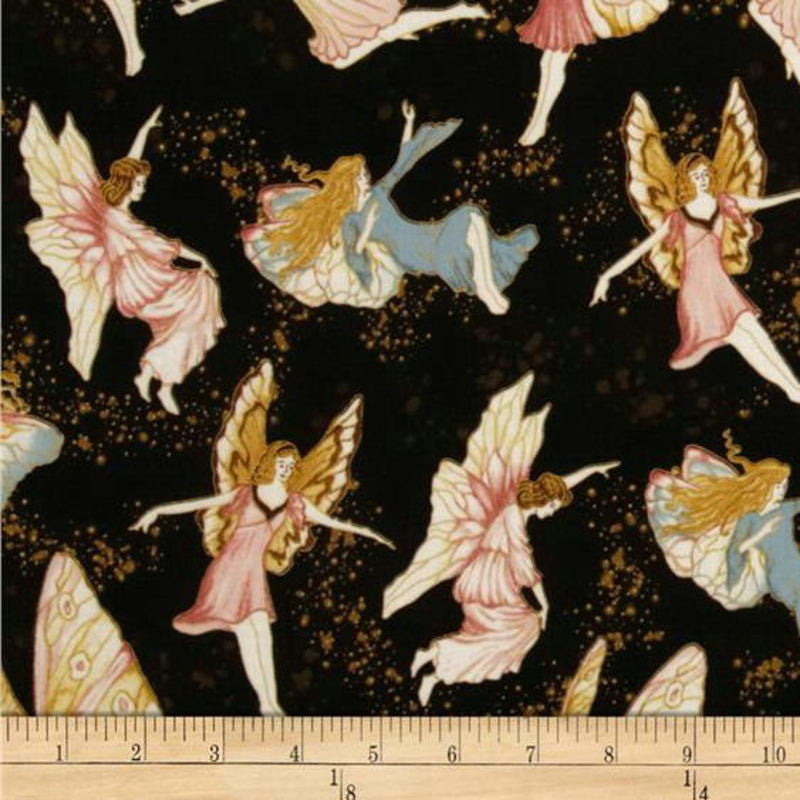 Hoffman Fairy Briar. Antique Black with Gold Metallic Accents L7270-A4G