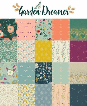 Art Gallery - Garden Dreamer Climbing Posies Blush.Priced per 25cm