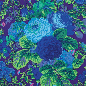 Kaffe Fassett Collective Gradi Floral Purple PWPJ53.Priced per 25cm