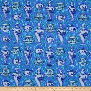 Kaffe Fassett Collective Delft Pots Blue PWGP165.Priced per 25cm