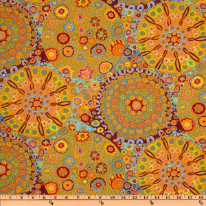 Kaffe Fassett Collective Millefiore Orange PWGP092 ORANGE - Priced per 25cm