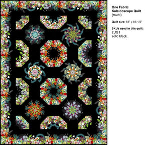 One Fabric Kaleidoscope Pattern.