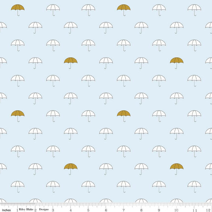 "Riley Blake ""When Skies are Grey"" SC5600-BLUE Sparkle Cotton.Priced per 25cm."