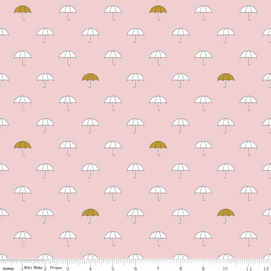 "Riley Blake ""When Skies are Grey"" SC5600-PINK Sparkle Cotton"