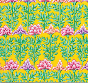 Kaffe Fassett Collective Mughal Yellow PWGP161.Priced per 25cm
