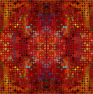 GARDEN BRIGHT by Sue Penn Digital PWSP004 Sunset Glow.Priced per 25cm