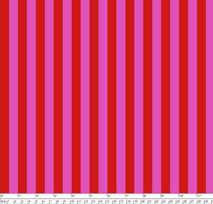 Tula Pink True Colors - Tent Stripe - Peony  PWTP069 - Priced per 25cm