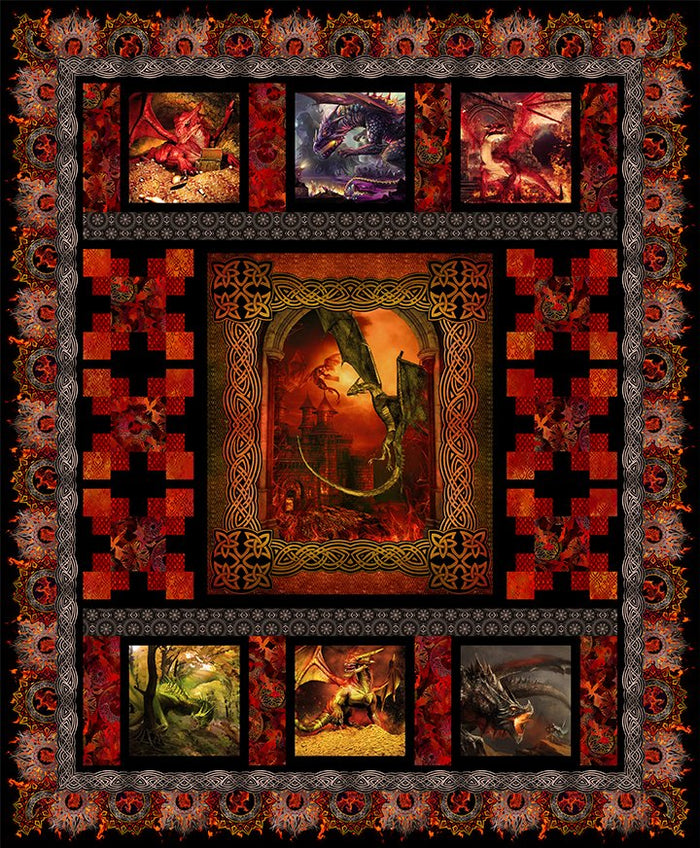 *Dragons by Jason Yenter QUILT KIT RED