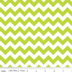 "Riley Blake ""Small Chevron"" Small Chevron in Lime.Priced per 25cm"