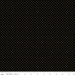 Riley Blake Designs Sparkle Cotton SC670-BLACK-GOLD