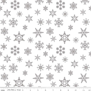 Riley Blake Designs Sparkle Cotton SC566-SILVER