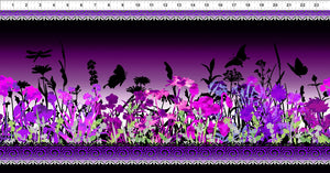 Dreamscapes 11 by Jason Yenter 2JYH 3 Border Print Purple.Priced per 25cm
