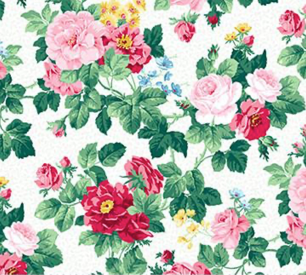 Julia's Garden Deborah Edwards White Floral Medium 21608-10.Priced per 25cm.