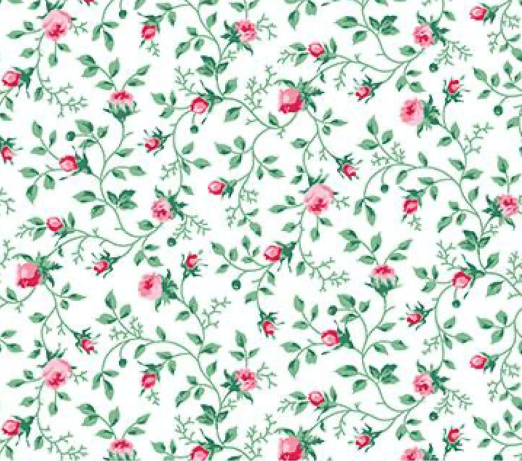 Julia's Garden By Deborah Edwards Tiny White Floral 21614-10.Priced per 25cm.
