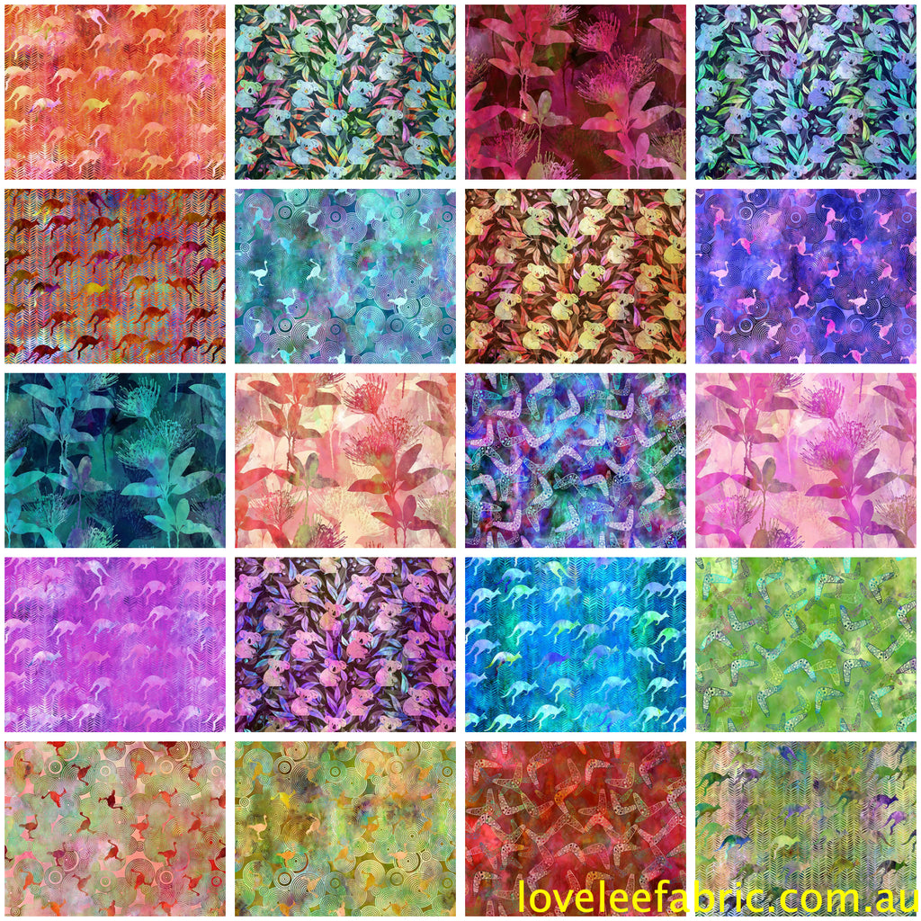 Australian Beauties by Jason Yenter FAT QUARTER BUNDLE - 20 Fat Quarters