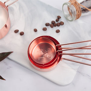 Rose Gold Measuring Cups - Set of 8