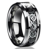 Nordic Dragon Steel Ring - The Indulge Store