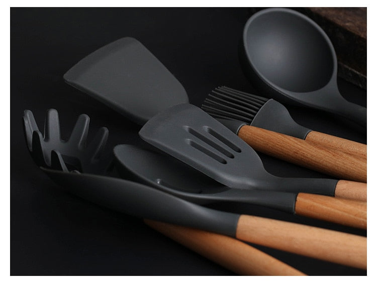 Silicone Kitchen Spatula Set