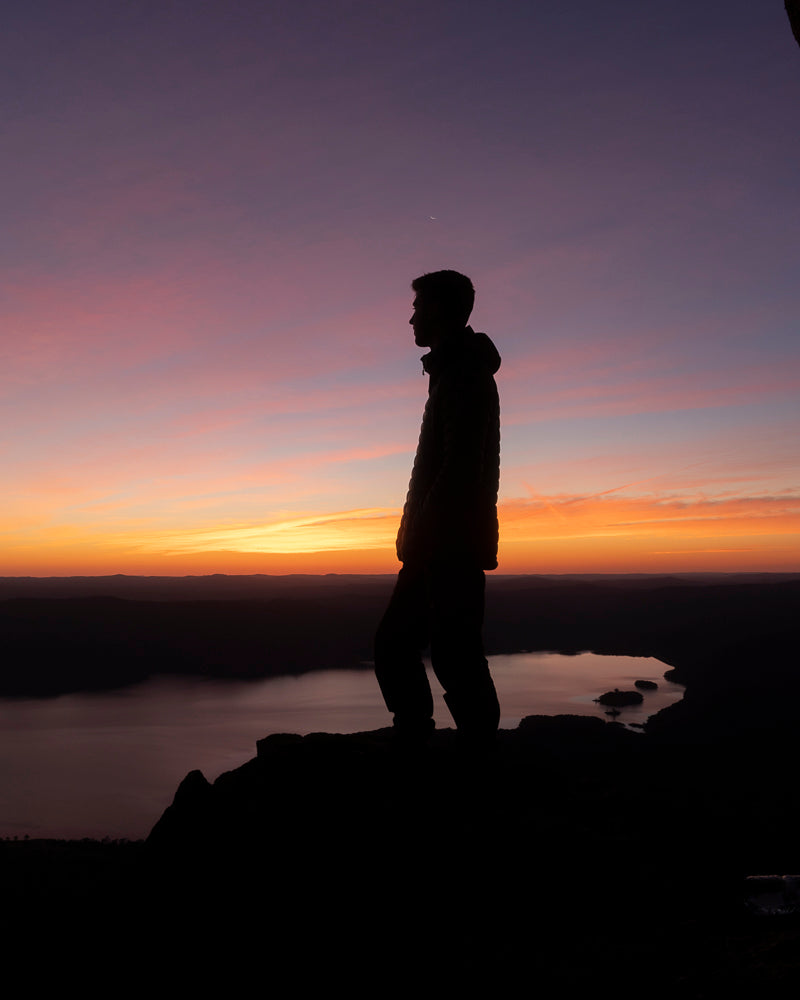 Watching the sun set at the top of Chimney Rock, overlooking Blowering Dam