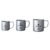 Snow Peak Titanium Double Wall Insulated Mug w/ Folding Handle