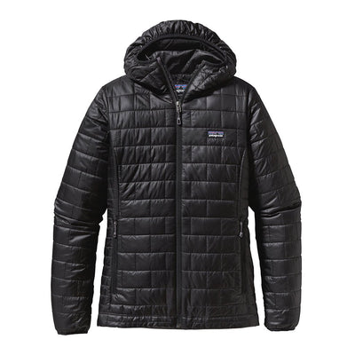 Patagonia Women's Nano Puff Insulated Hoody BLK - Front