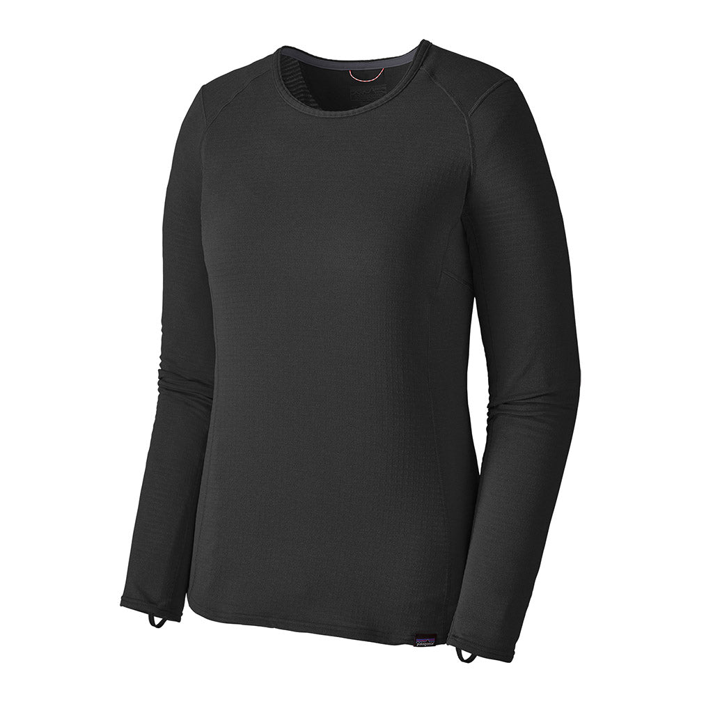 Patagonia Women's Capilene Thermal Weight Crew Baselayer BLK - Hero Left
