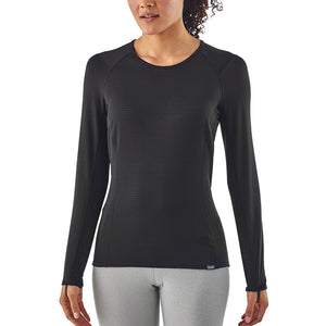 Patagonia Women's Capilene Thermal Weight Crew Baselayer BLK - Model Front