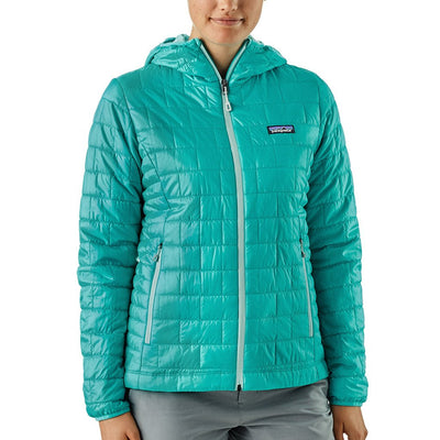 Patagonia Women's Nano Puff Insulated Hoody STRB - Model Front
