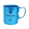 Snow Peak Titanium Double Wall Insulated Mug w/ Folding Handle 450ml - Blue