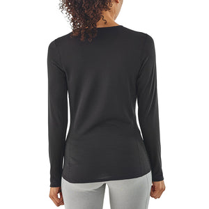 Patagonia Women's Capilene Thermal Weight Crew Baselayer BLK - Model Back