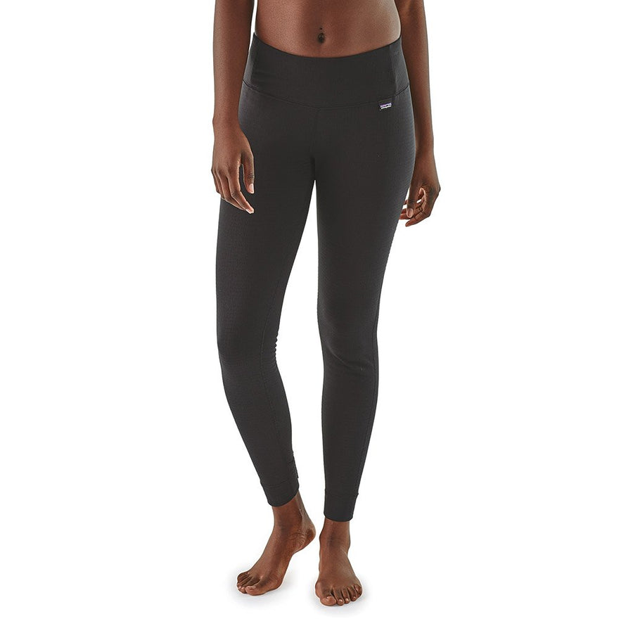 Patagonia Women's Capilene Thermal Weight Leggings BLK - Model Front