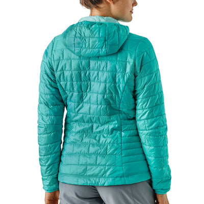Patagonia Women's Nano Puff Insulated Hoody STRB - Model Back
