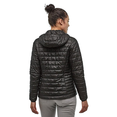 Patagonia Women's Nano Puff Insulated Hoody BLK - Back