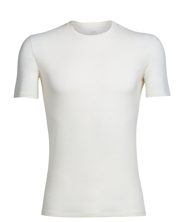 Icebreaker Men's Anatomica S/Sleeve Crewe Merino Base Layer - White