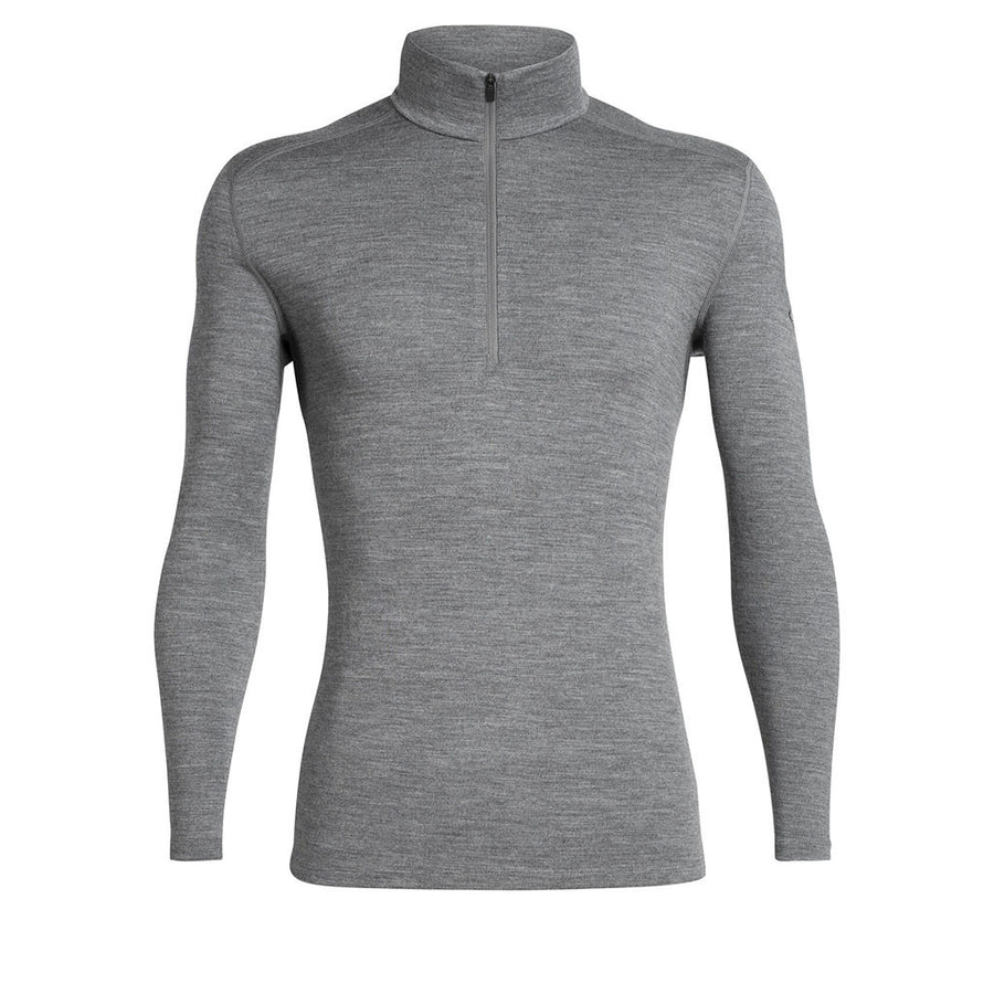 Icebreaker Men's 260 Tech LongSleeve Half Zip gritstone heather