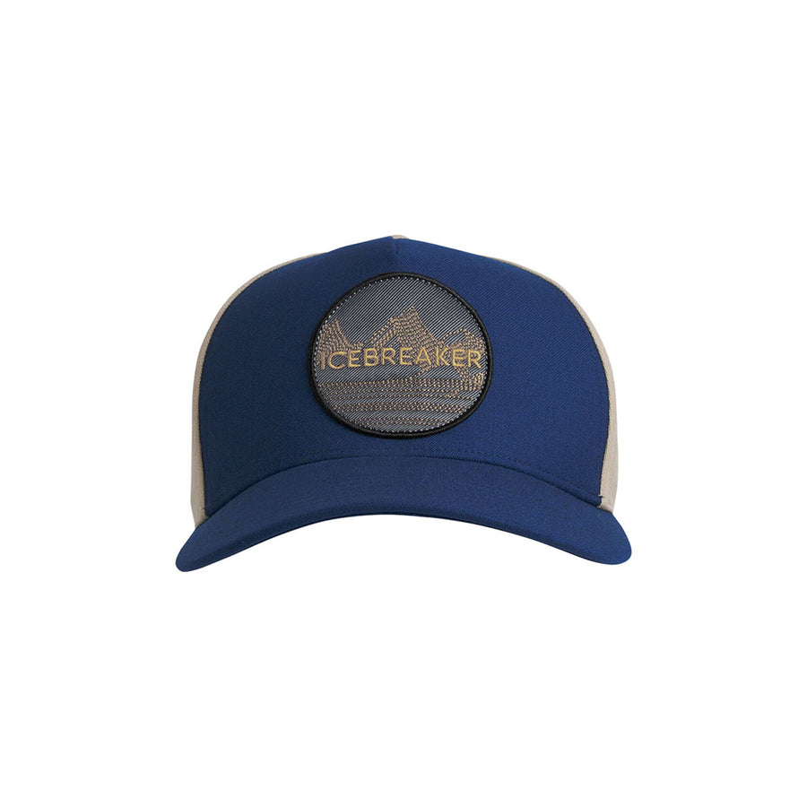 Icebreaker Cool-Lite Merino Graphic Hat - estate blue hero