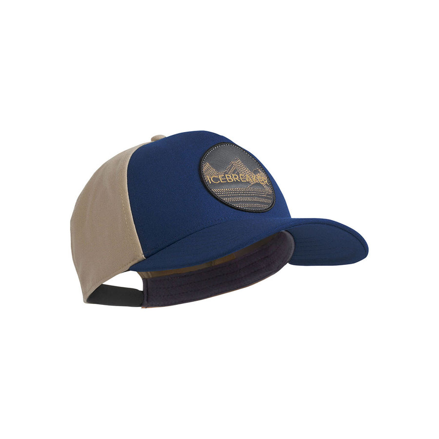 Icebreaker Cool-Lite Merino Graphic Hat - estate blue detail 1