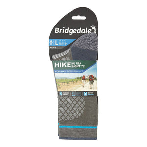 Bridgedale Men's Hike Ultra Light T2 Coolmax Performance Socks