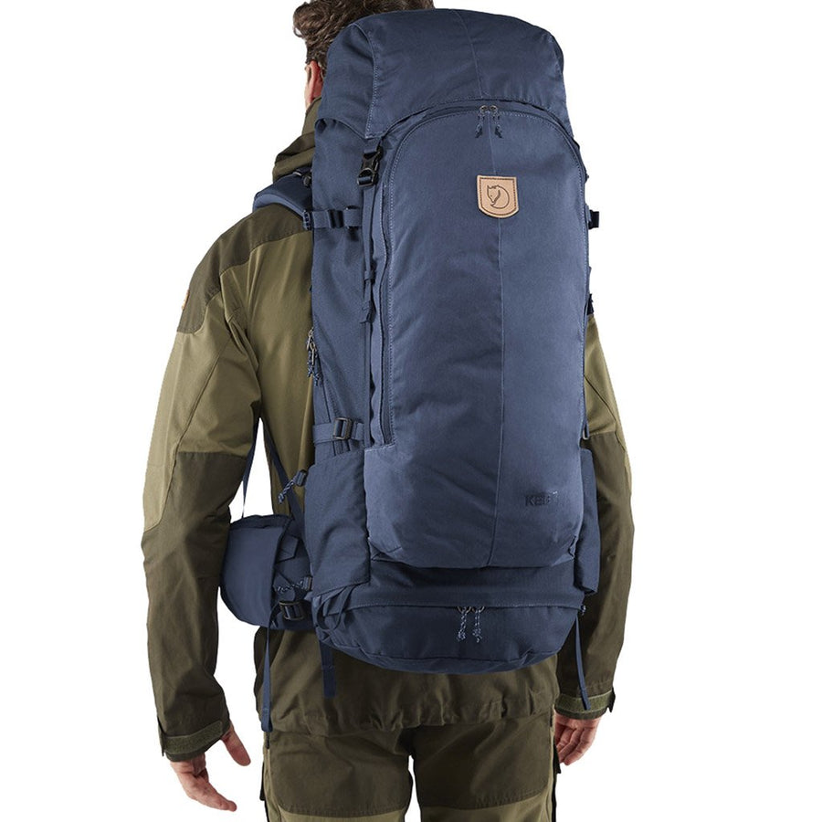 Fjallraven Keb 72 Litre Backpack Storm - Model Back