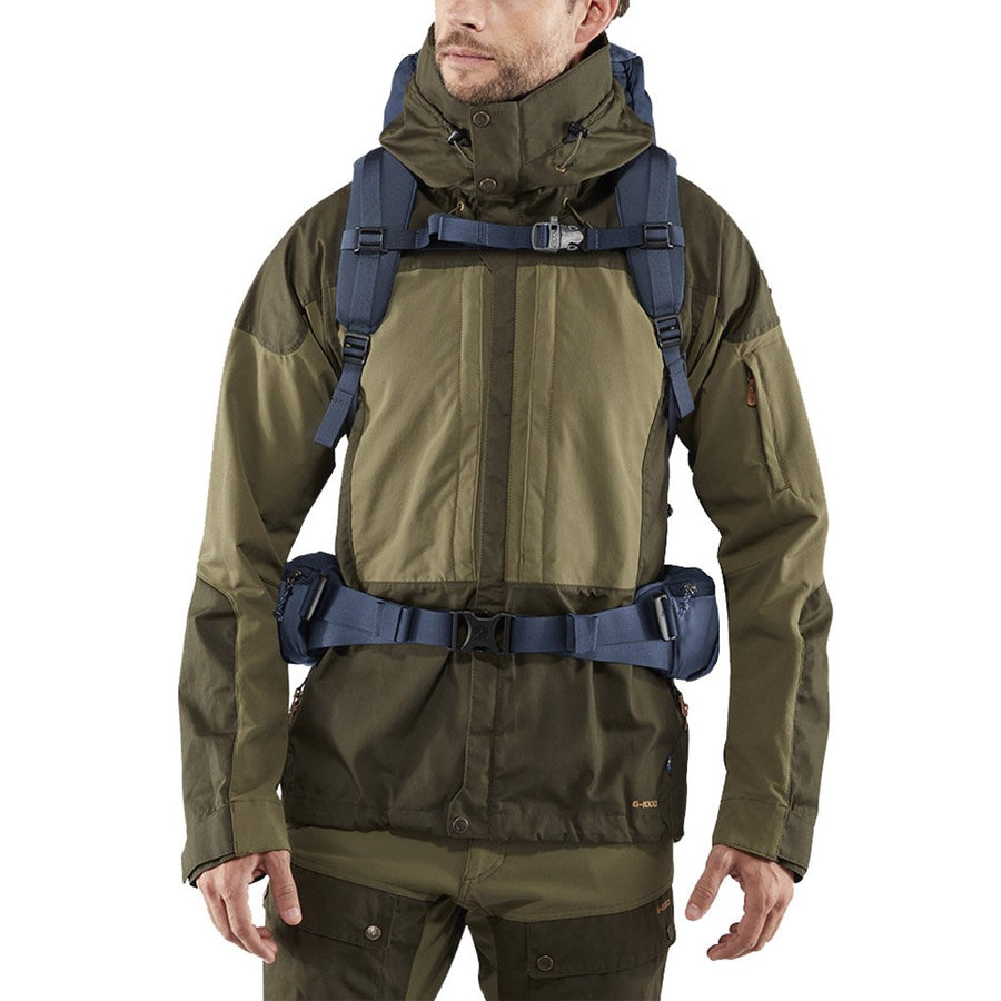 Fjallraven Keb 52 Litre Backpack Storm - Model Front