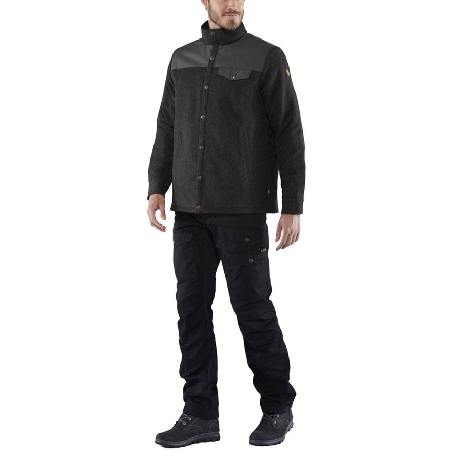 Fjallraven Men's Canada Wool Padded Jacket Black - Model Full