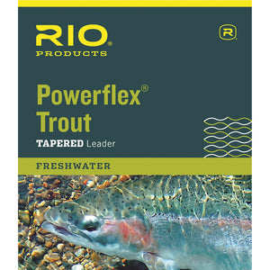 RIO Powerflex Trout Tapered Leader - 9ft 1 pack