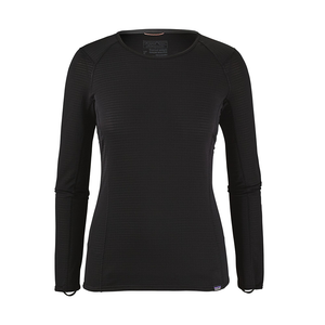 Patagonia Women's Capilene Thermal Weight Crew Baselayer BLK - Front