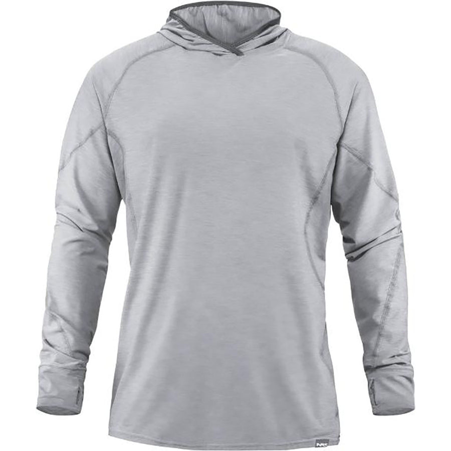 NRS Men's H2Core Silkweight Hoodie - quarry detail 1