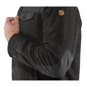 Fjallraven Men's Canada Wool Padded Jacket Black - Model Arm